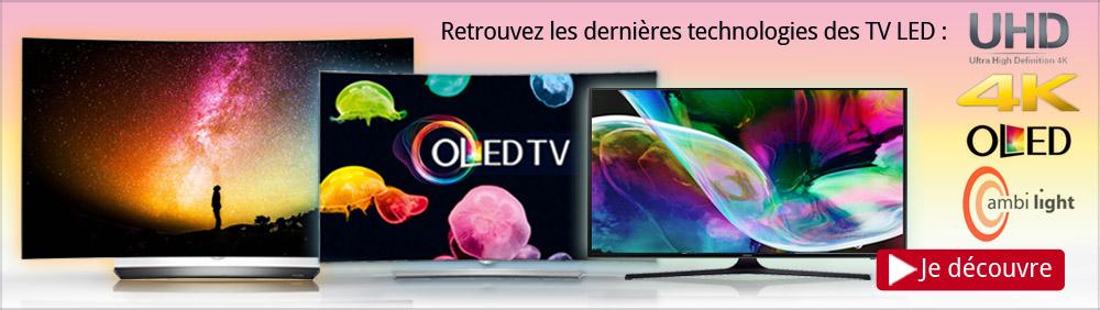 Dernières technologies TV Led